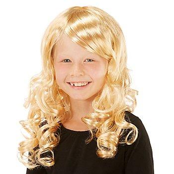 Lockenperücke für Kinder, blond