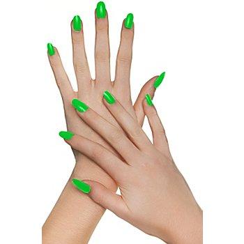 Fingernägel, neongrün