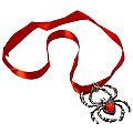 Halskette Spinne mit Satinband