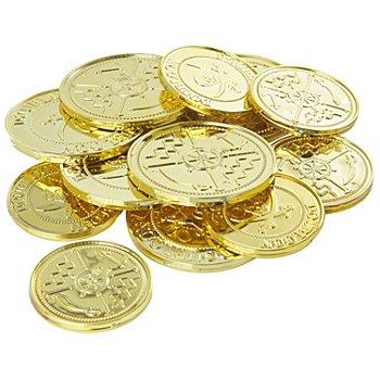 Pièces en plastique, or, 12 pièces