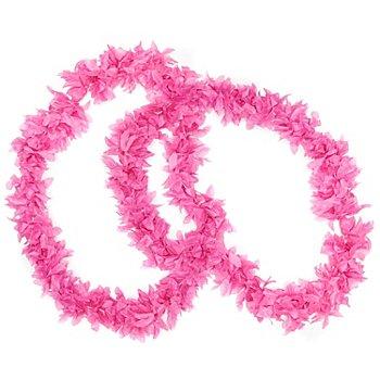 Collier 'fleurs', rose vif
