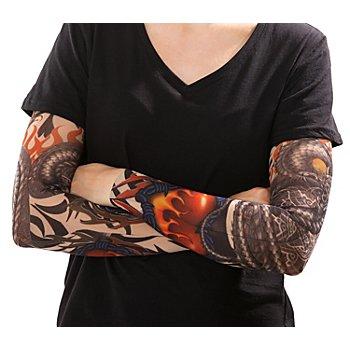 Tattoo Arm Drache, bunt