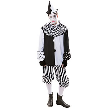 Harlekin-Kostüm 'Black & White' für Herren