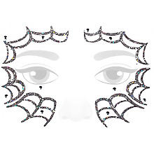 Face Art Tatouage 'toile d'araignée'