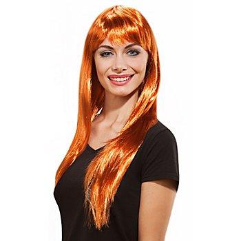 Perruque à cheveux longs, cuivre