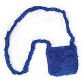 buttinette Tasche Plüsch, blau