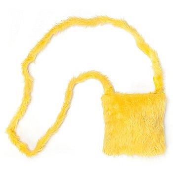 buttinette Sac en tissu peluche, jaune