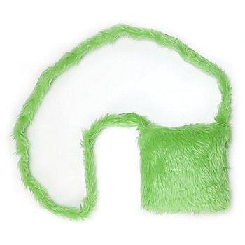 buttinette Tasche Plüsch, grün