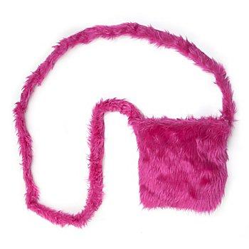 buttinette Tasche Plüsch, pink