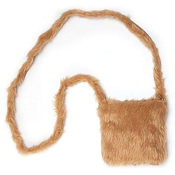 buttinette Tasche Plüsch, braun