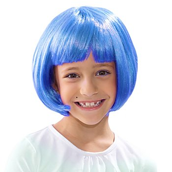 Bob Perücke für Kinder, blau
