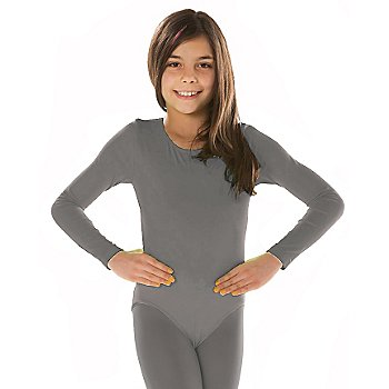 Body à manches longues pour enfants, gris