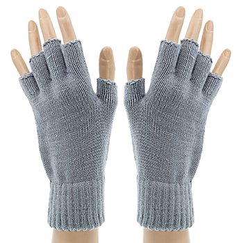 Strickhandschuhe, grau
