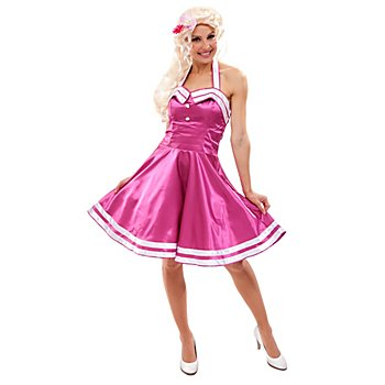 Rock'n'Roll-Kleid Fifties, fuchsia