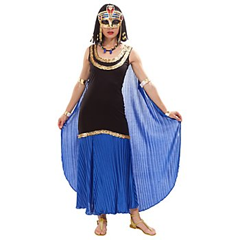 buttinette Robe 'Cléopâtre', noir/bleu