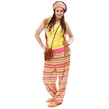 buttinette Hippie Kostüm für Damen, bunt