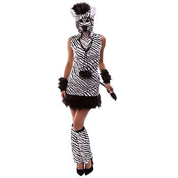 buttinette Zebra Kostüm, weiss/schwarz