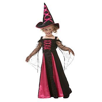 Hexe Kostüm für Kinder, schwarz/pink
