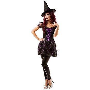 Déguisement de sorcière, noir/violet