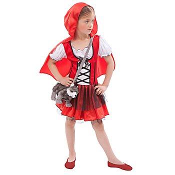 Waldmädchen Kostüm für Kinder, rot