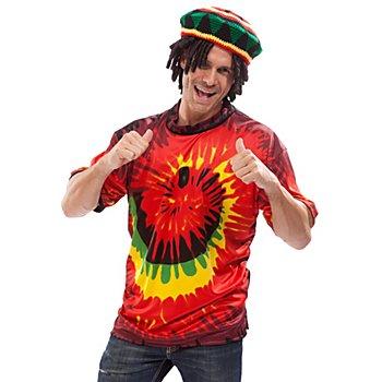 T-Shirt 'Jamaïque' pour hommes et femmes, rouge/jaune/vert