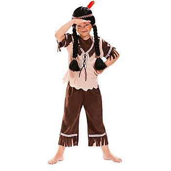 Indianer Kostüm für Kinder, hellbraun/beige