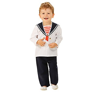 Déguisement 'matelot' pour enfants, bleu marine/blanc