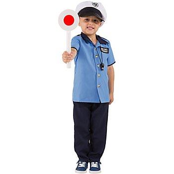 Polizei Kostüm für Kinder, blau