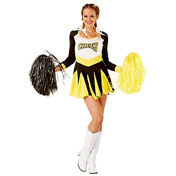Cheerleader Kostüm, gelb