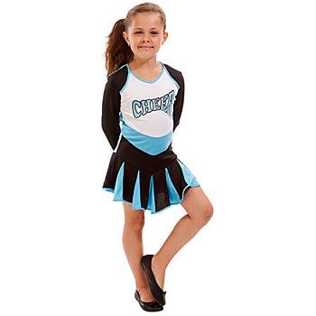Cheerleader Kostüm für Kinder, türkis