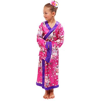 Geisha Kostüm für Kinder, pink/lila