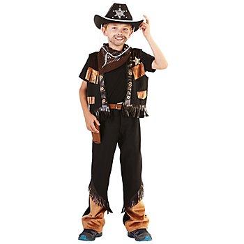 Cowboy Kostüm für Kinder, braun/schwarz