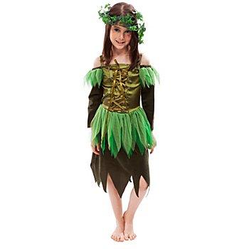 Waldfee Kostüm für Kinder, dunkelgrün