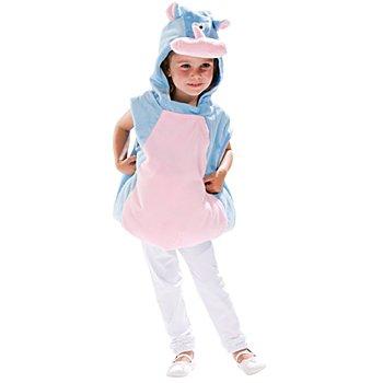 Nilpferd Kostüm für Kinder, hellblau/rosa