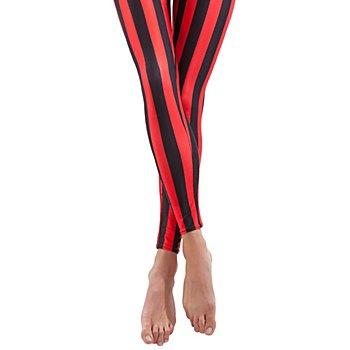 buttinette Leggings, schwarz/rot