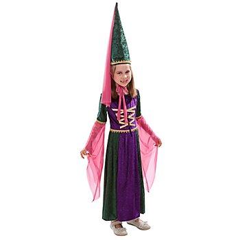 Déguisement 'châtelaine' pour enfants, vert/violet