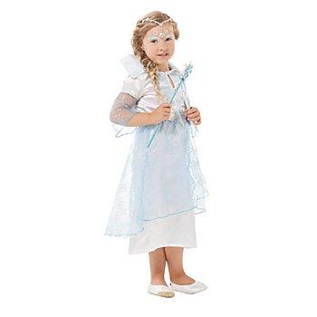 Eisprinzessin Kostüm für Kinder, hellblau/weiß