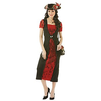 Robe de pirate, noir/rouge
