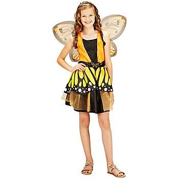 Schmetterling Kostüm für Kinder, orange/schwarz
