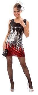 Paillettenkleid Schwarz Silber Rot Online Kaufen Buttinette Karneval Shop