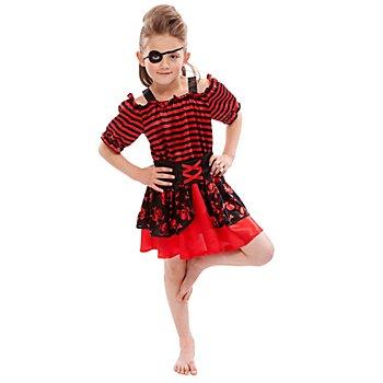 Déguisement 'Pirate' pour enfants, rouge/noir