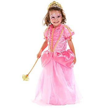 Robe de princesse 'Rosalie' pour enfants, rose vif/doré