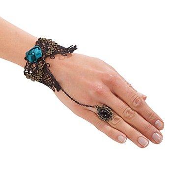 Bracelet style 'gothique', noir