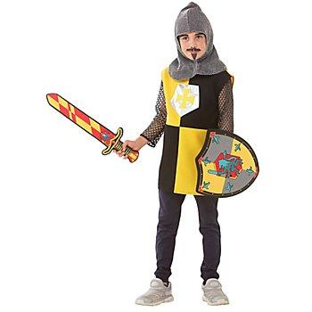 buttinette Ritter Kostüm für Kinder, gelb/schwarz