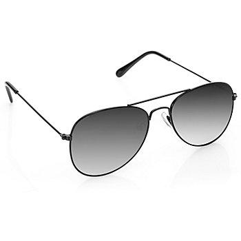 Pilotenbrille, schwarz