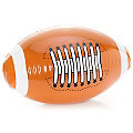 "Ballon ""Football américain"" gonflable, marron/blanc"
