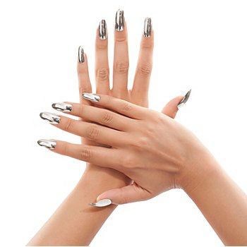 Fingernägel, silber