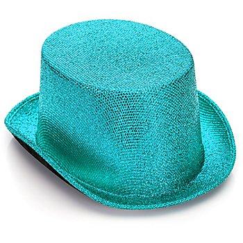 Haut-de-forme scintillant, turquoise