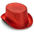 Chapeau haut-de-forme métallisé, rouge