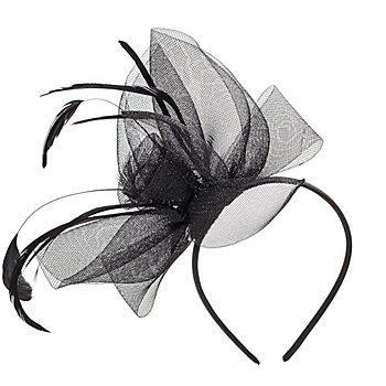 Haarreif 'Rose', schwarz